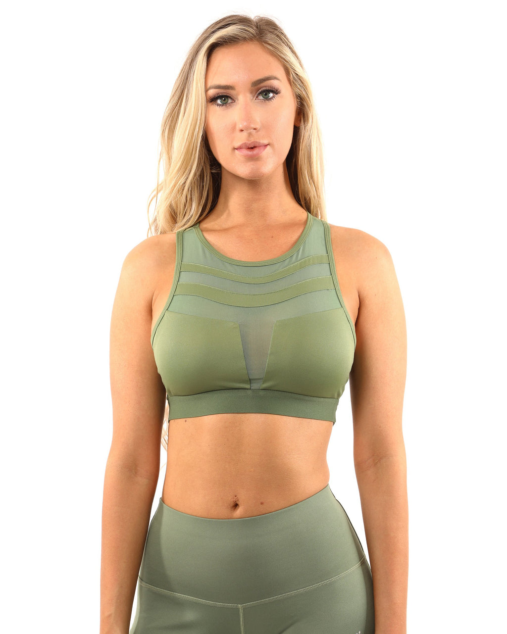 Huntington Sports Bra - Olive Green - olivias-room-boutique