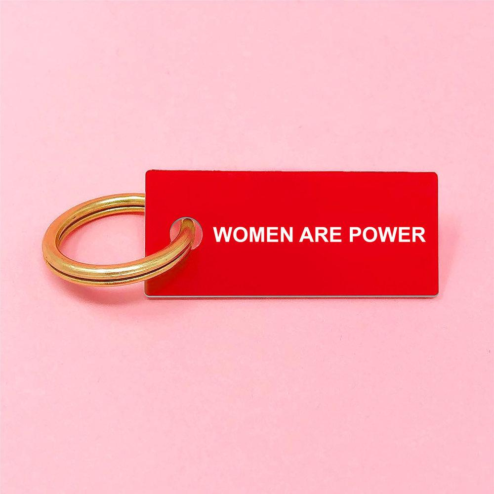 WOMEN ARE POWER Keychain Red