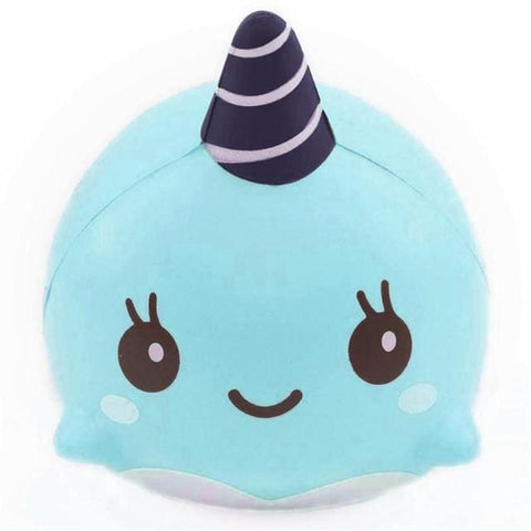 Narwhal Squishy - Blue