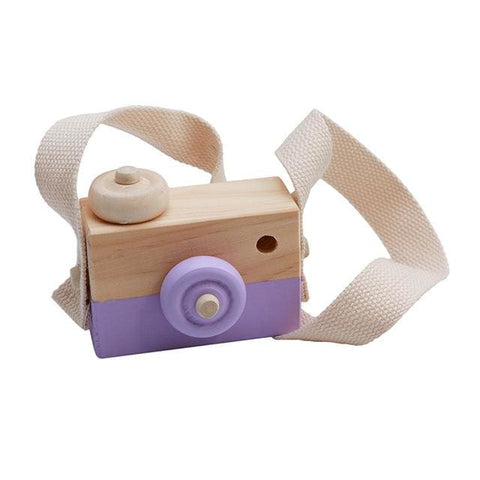 Image of Wooden Camera - Purple