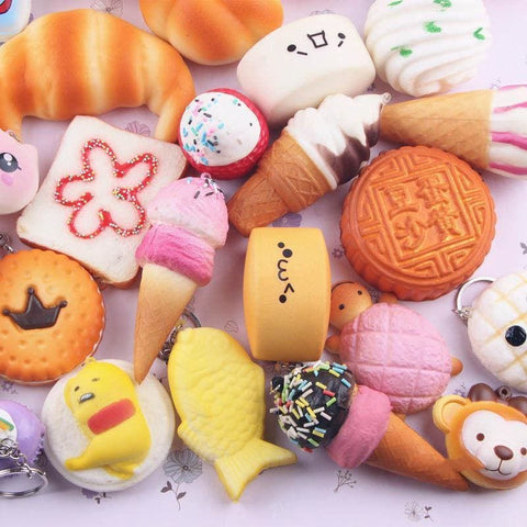 10 Pieces Mini Squishy