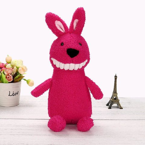 Smiling Plush Pets - Pink Rabbit