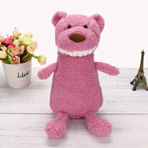 Smiling Plush Pets - Light Pink Bear