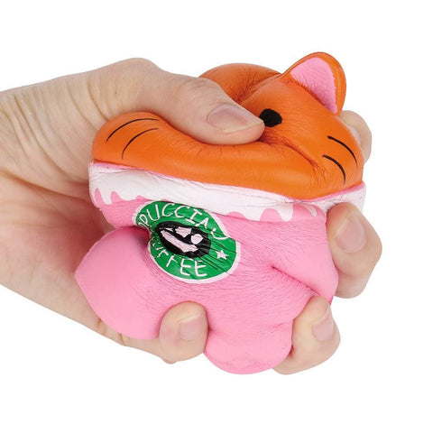 Pink Cup Cat Squishy