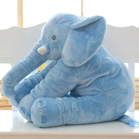 Image of Plush Elephant - 55 Cm / Blue