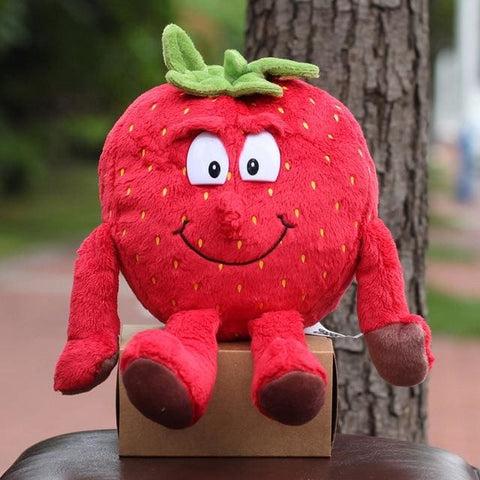 Large Selection Of Fruits & Vegetables Plush Toy - Strawberry 2