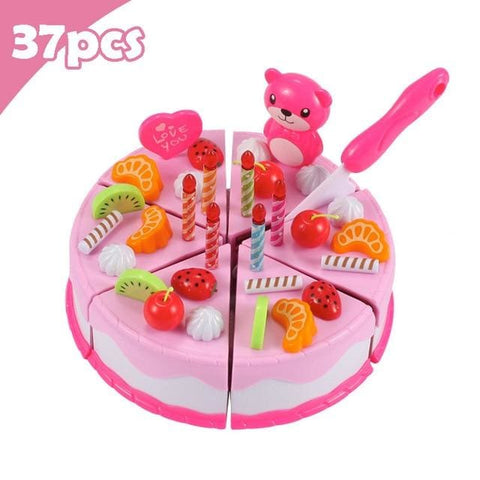 Pretend Play Food - Qwz069-37Pcs-Pink