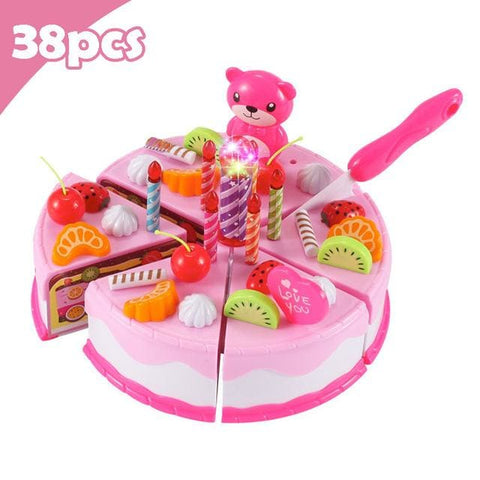 Pretend Play Food - Qwz069-38Pcs-Pink