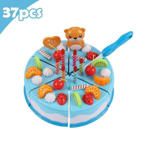 Pretend Play Food - Qwz069-37Pcs-Blue