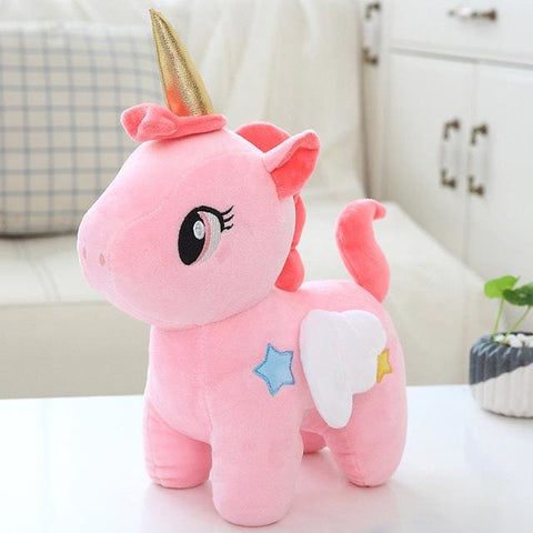 Plush Unicorn With Wings - Pink 20Cm