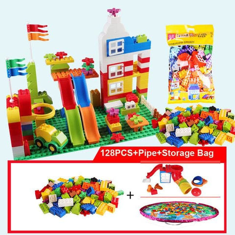 Image of Big Building Blocks - 128Pcs With Pipe Bag