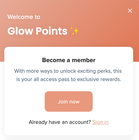 glow points signup