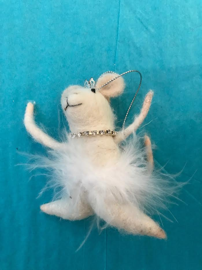 White Swan Mouse Ornament