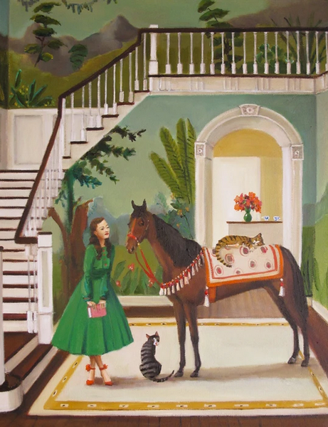 "A House Horse Called Rousseau, 8.5""x11"" Art Print"
