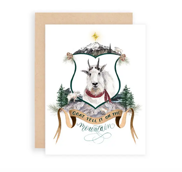 Goat Tell it on the Mountain Greeting Card