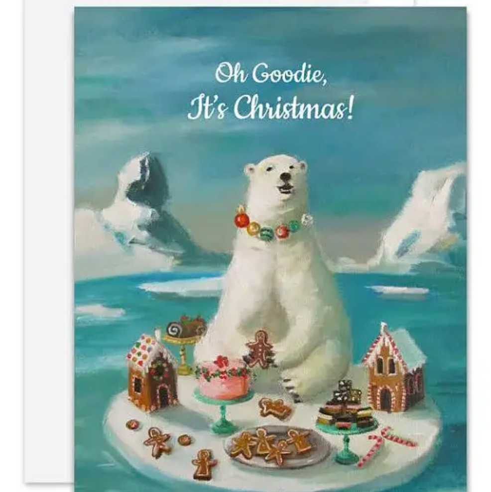Goodie Bear Christmas Card