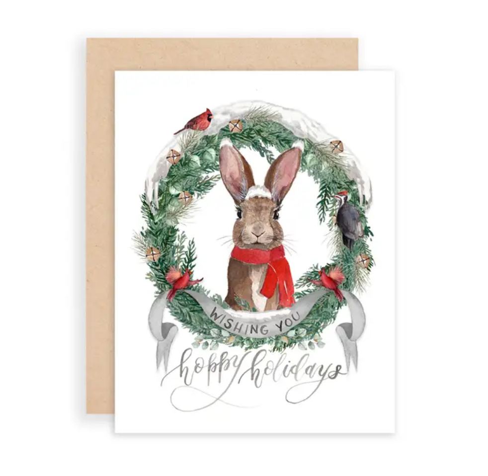 Wishing You Hoppy Holidays Greeting Card