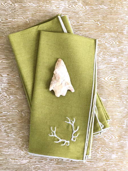 Pear Green Linen Cotton Napkins