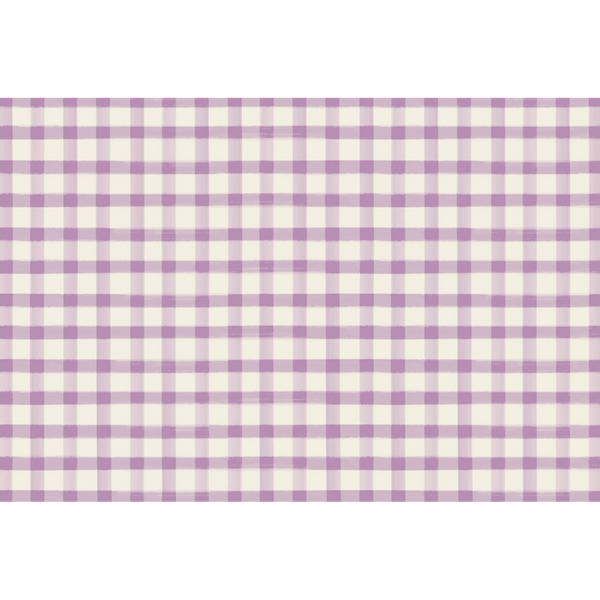 Lilac Gingham Placemats
