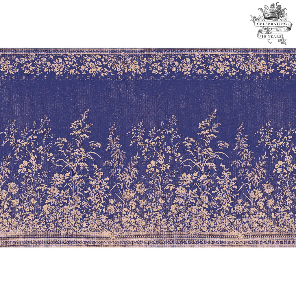 Navy Woven Floral Placemats