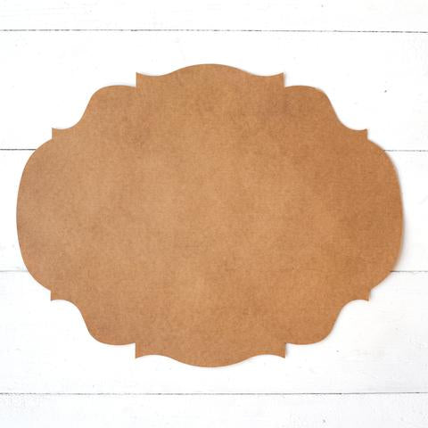 Kraft French Frame Placemat