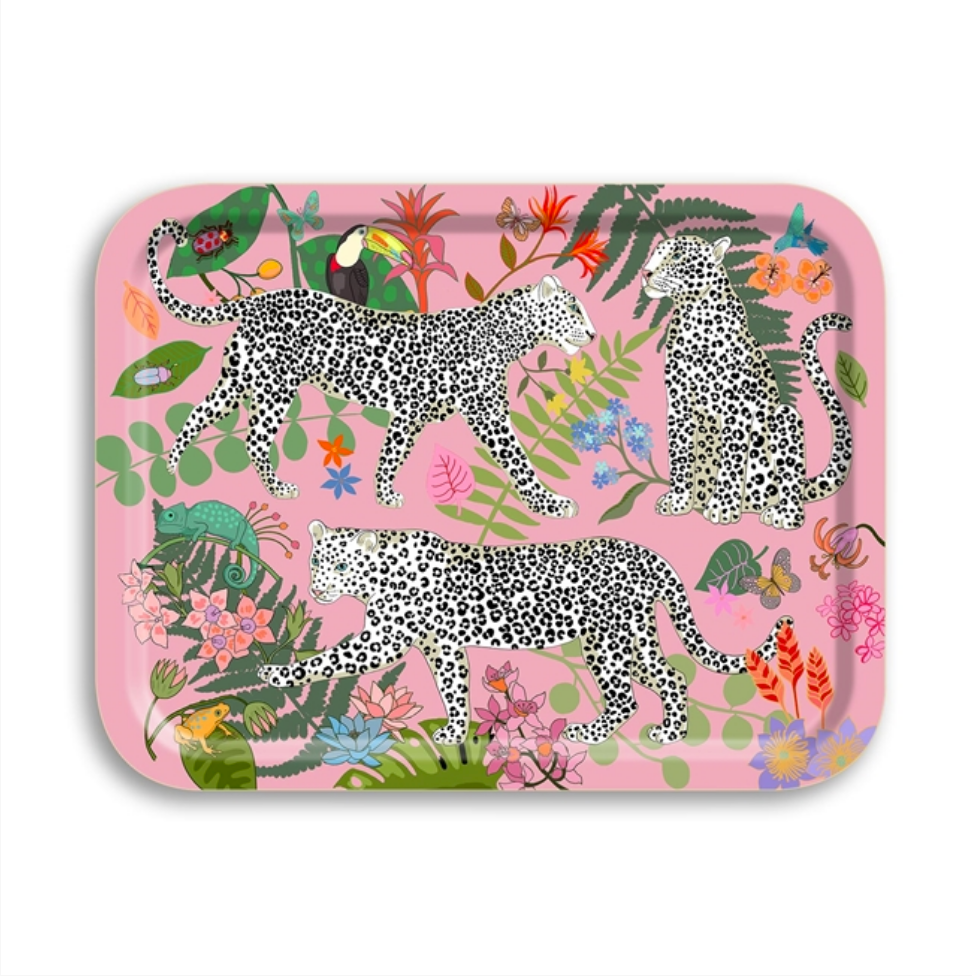 Leopard Pink Birch Tray