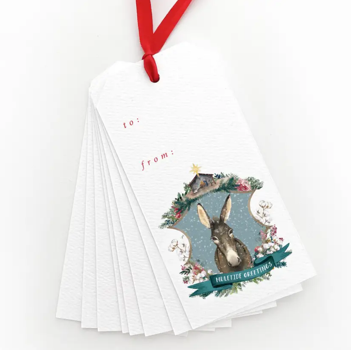 Muletide Greetings Gift Tag