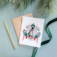 It's Penguining to Look a Lot Like Christmas Greeting Card