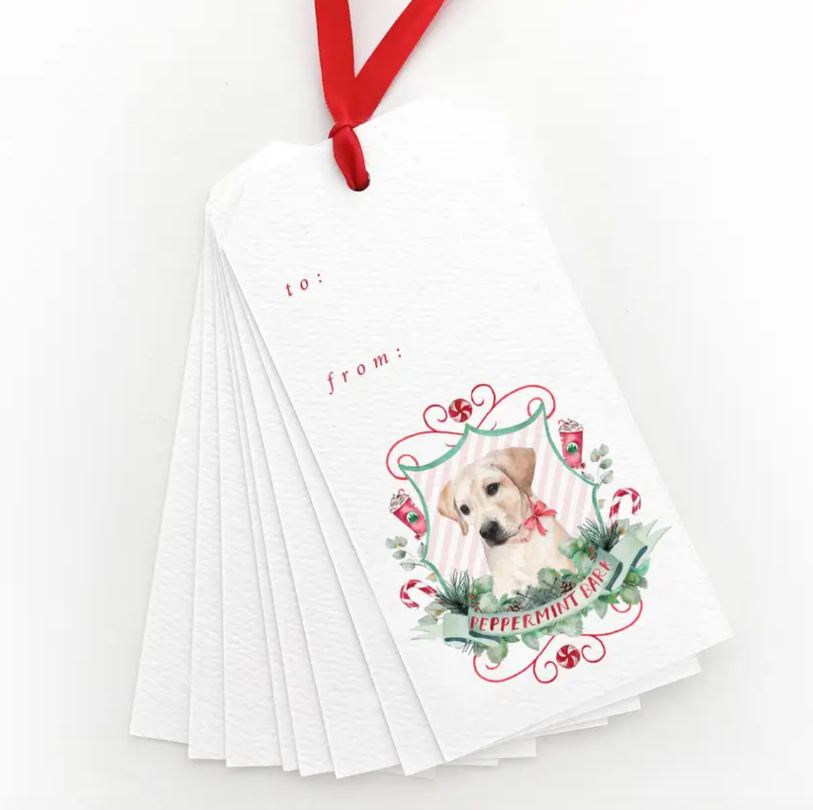 Peppermint Bark Gift Tags