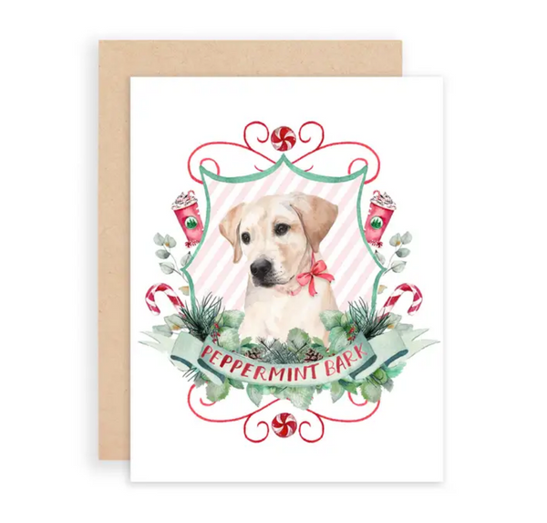 Peppermint Bark Greeting Card