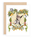 Possum in a Pear Tree Greeting Card
