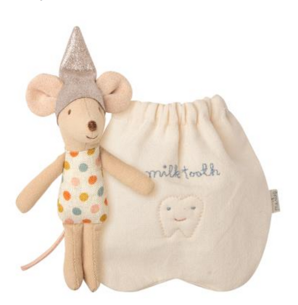 Tooth Fairy Mouse in Bag