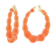 Bamboo Lucite Hoops