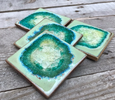 Geode Crackle Coaster
