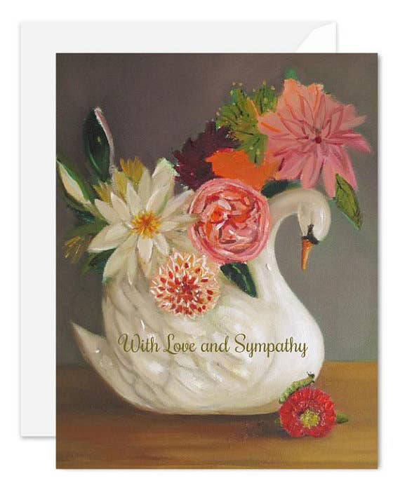 Love and Sympathy Swan Card