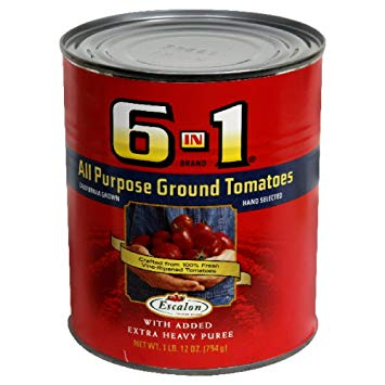 6 in 1 all purpose ground tomatoes white the heavy puree 12oz