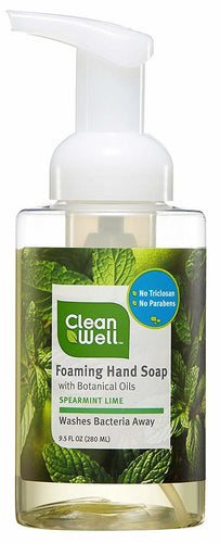 Clean well foaming hand soap spearmint lime