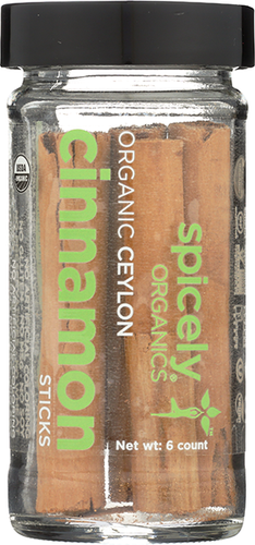 Spicely Organic Cinnamon Sticks jar