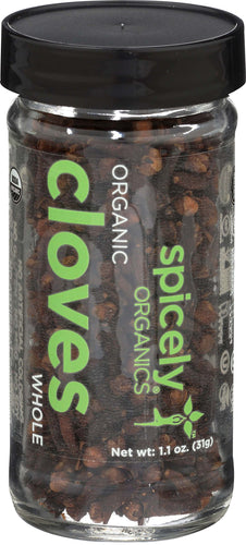 Spicely Organic Cloves Whole Jar