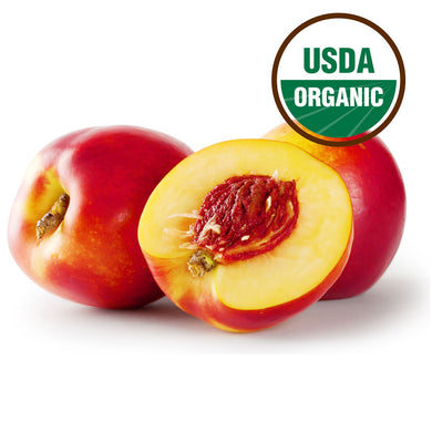 Organic yellow nectarines 0.35-0.40lbs