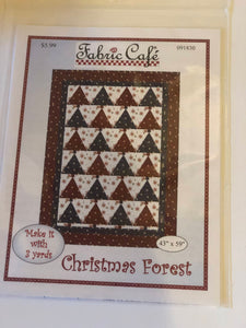 3 yard quilt- Pattern Christmas Forest