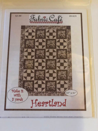 3 yard quilt pattern-Heartland