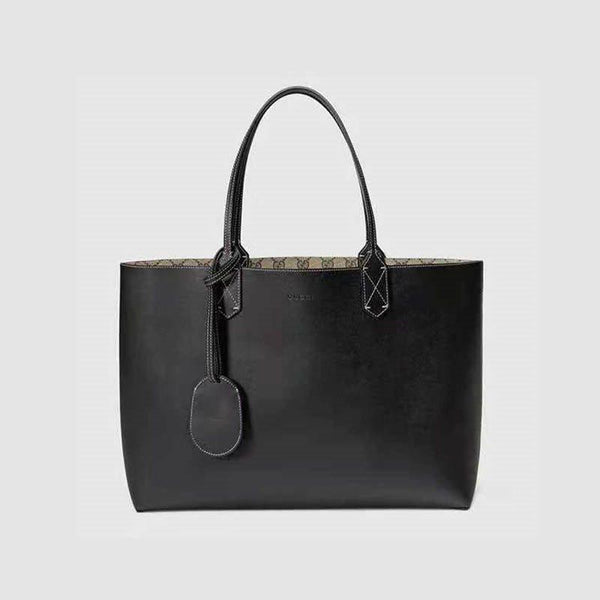 PU Thread Plain Square Tote Bags