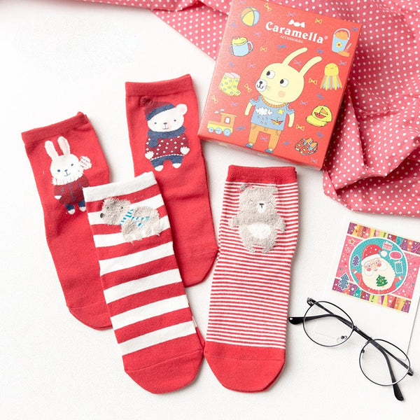 Winter Cartoon Casual Regular Socks