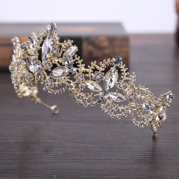 Tiara Plant Crystal Inlaid Anniversary Hair Accessories