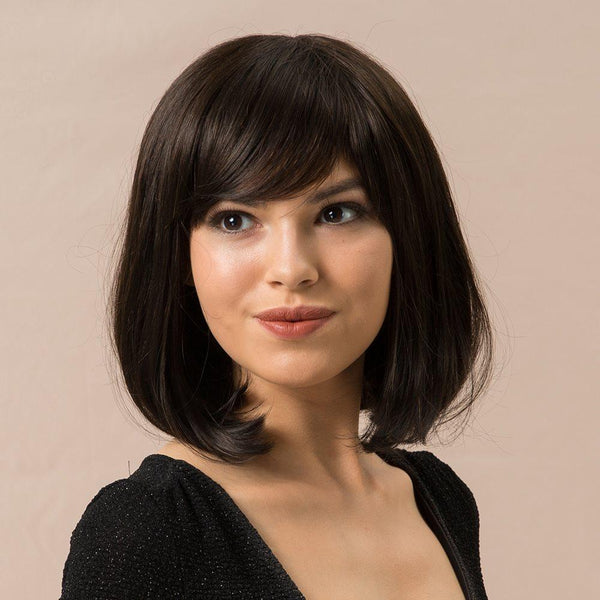 Straight Capless Women Human Hair Blend Wigs 130% Wigs