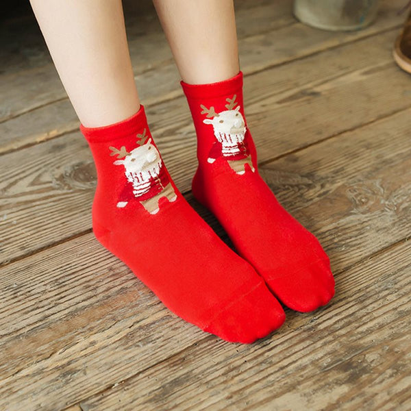 Fashion Winter Cartoon Warm Regular Socks