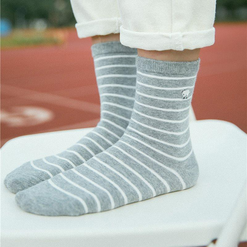 Stripe Ventilation Fall Regular Socks