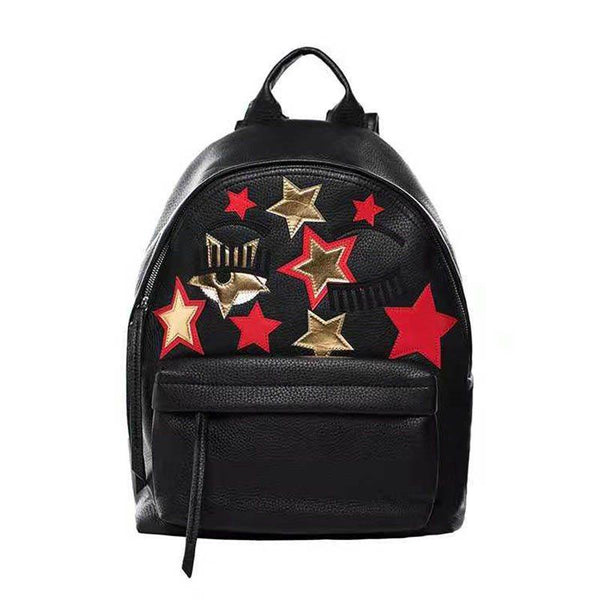 Geometric Applique Backpacks