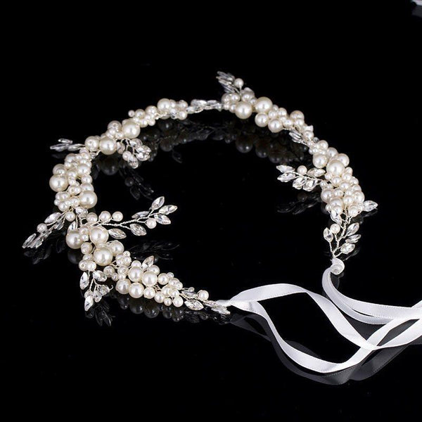 Plant Hairband Pearl Inlaid Engagement Hair Accessories